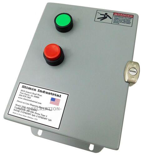 Elimia DOL 9-13-230N4 3 HP 230V Magnetic Motor Starter Nema Rated 4X UL508A