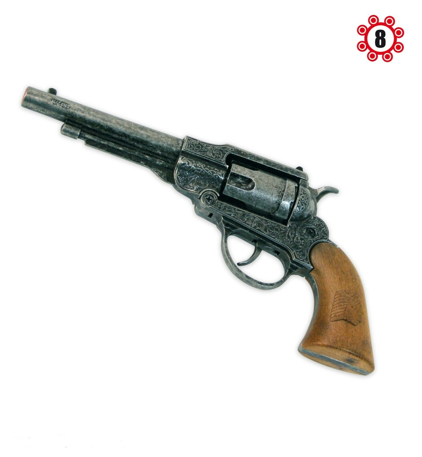 Spielzeugrevolver Metall Sheriffrevolver Cowboy Wilder Westen Pistole für Kinder
