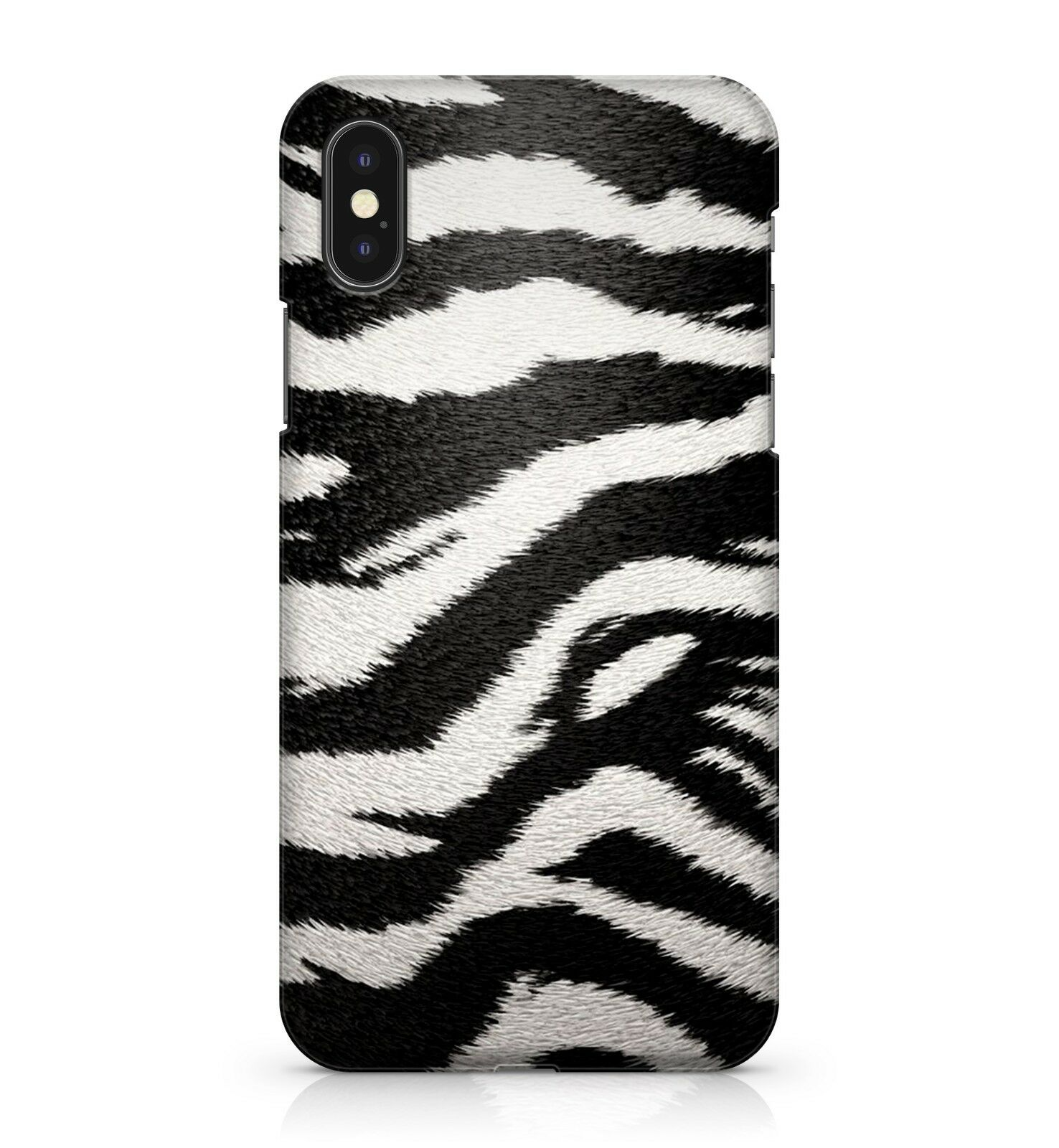 buy online 23a69 a4c0e Details about Fluffy Furry Black White Zebra Animal Camo Soldier Army Print  Phone Case Cover