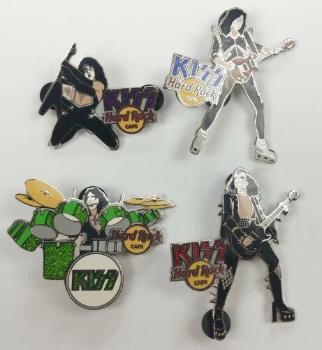 KISS Band Hard Rock Café Pin Badge 4pc Set HRO Online Riot 06 Series 2006 LE 100