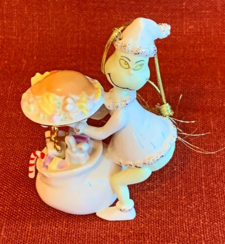 "Lenox Dr Seuss ""Stealing the Roast Beast"" Hanging Ornament MINT in Box"