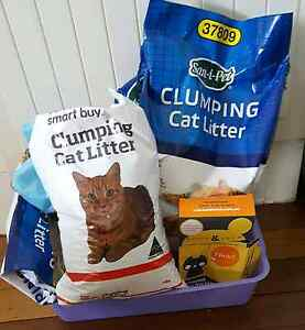 NEW cat litter tray+1 box of litter tray liners and cat litter Wilston Brisbane North West Preview