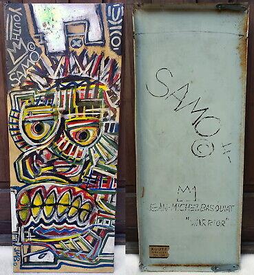 Jean Michel BASQUIAT painting New York expressionism American African Graffiti ~