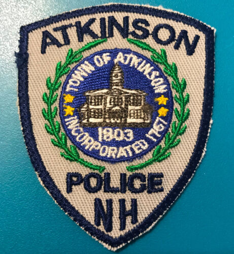 HAT SIZE Atkinson Police New Hampshire Patch