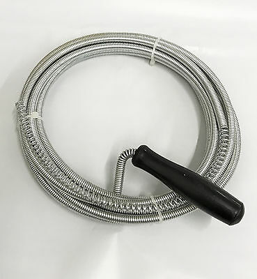 NEW 3m Long Drain Pipe Plunger Cleaner Waste Kitchen Sink Snake Toilet Rod