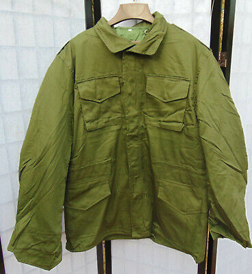 Spanish M-65 O.D. Field Jacket with liner, Size XXL in new non-issued condition