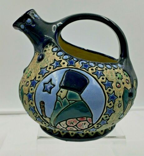 AMPHORA CAMPINA SERIES ENAMELED EWER -STYLIZED STARS / TREE / ELDER -1909-1930