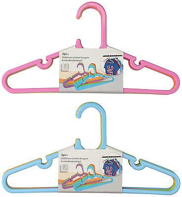 Neu 24 Stück Kinder Kleiderbügel in versch Farben Baby Schrank Wäsche Bügel