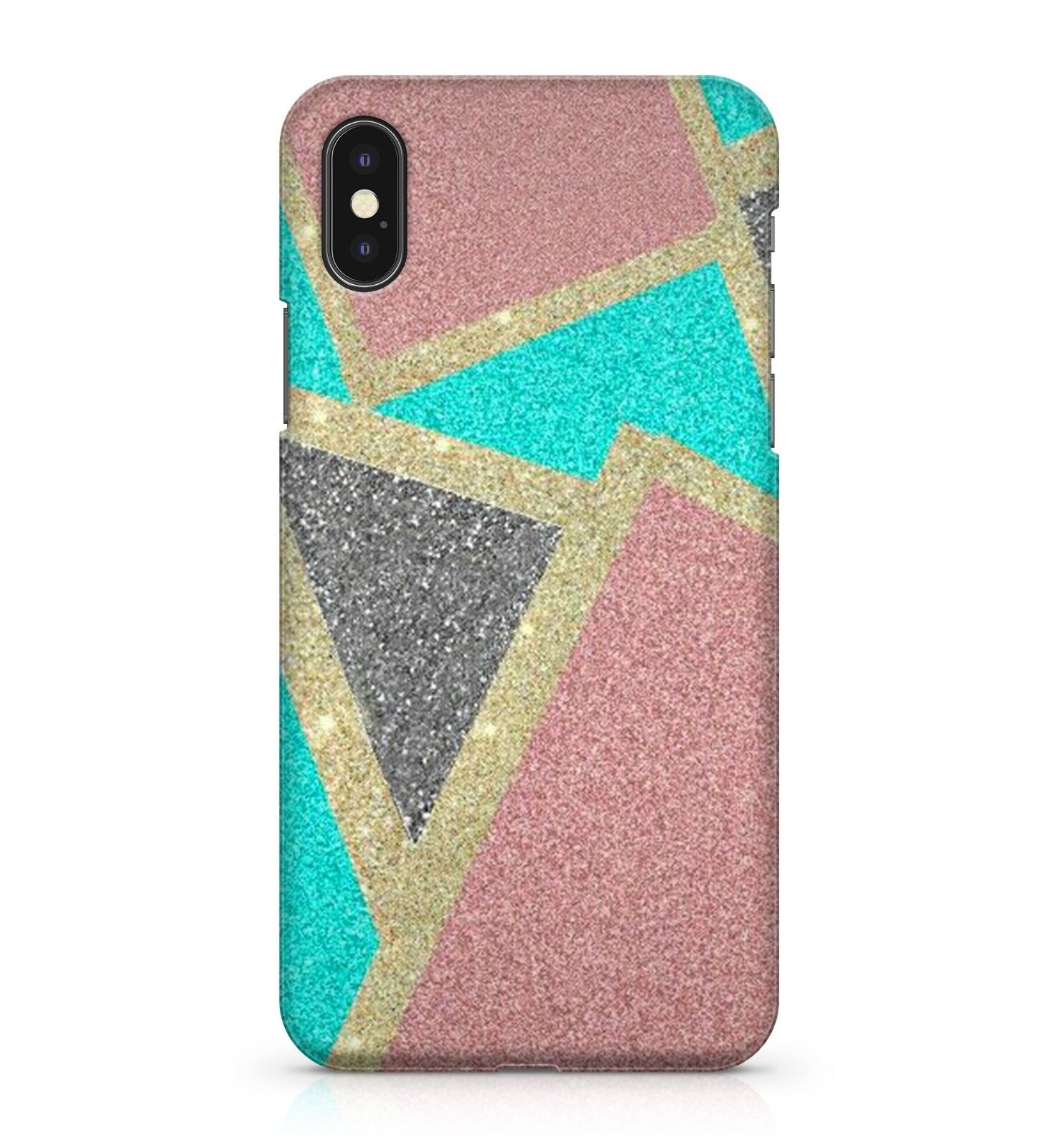 Details About Gold Pink Black Blue Shapes Art Abstract Cool Sparkling Effect Phone Case Cover