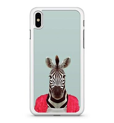 Red Zebra Cover (Black Dreamy White Stripy Zebra Water Painted Red Jumper 2D Phone Case Cover)