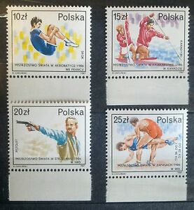 POLAND-STAMPS MNH Fi2970-73 SC2820-23 Mi3118-21 Polish sportsm.champ.,1987,clean - <span itemprop=availableAtOrFrom>Reda, Polska</span> - POLAND-STAMPS MNH Fi2970-73 SC2820-23 Mi3118-21 Polish sportsm.champ.,1987,clean - Reda, Polska