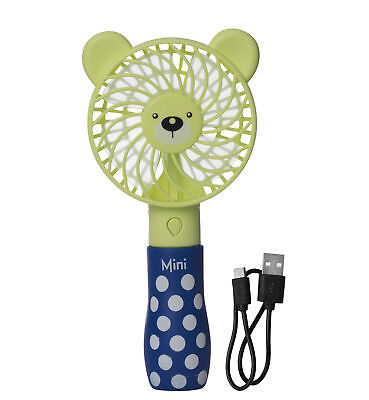 Kidstech Mini Hand Held Fan - Operated with USB Rechargeable Battery - Cooling