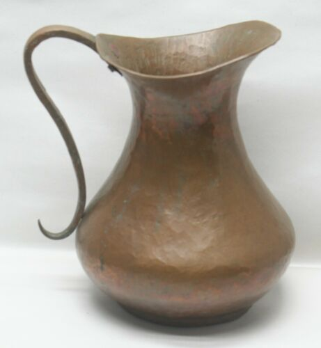 Large Hand Hammered Copper Pitcher