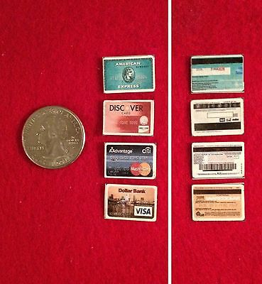 1:6 scale Handmade miniature - Barbie-size - Set of 10 Credit Cards