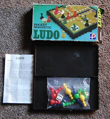 Vintage 1970s Pocket Magnetic Made in Hong Kong Ludo Game for sale  Shipping to Nigeria