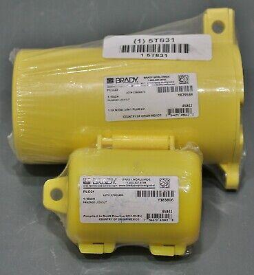 2 Brady Plug Lockouts Plo23 Plo21 Yellow For Plug End Use With Padlock
