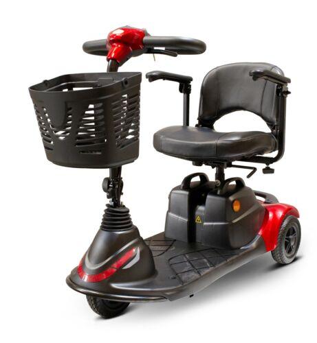 Red Ew-m40 Ewheels Medical 3 Wheel Scooter, 300 Lb. Cap, Easy Dismtle/transport