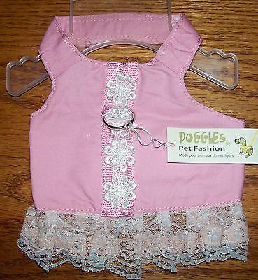NEW Doggles Pink White Lace Flower Dog Harness Dress (Pick Size S, XS, XXS, -