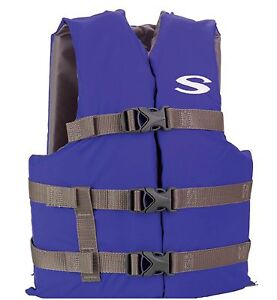 COLEMAN-Stearns-Classic-Series-Youth-Blue-Life-Jacket-Flotation-Vest-50-90Lbs