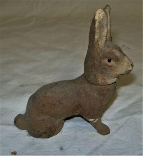Vintage Paper Mache Rabbit Brown