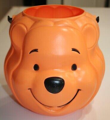 Vintage Disney Winnie The Pooh Halloween Pumpkin Trick Or Treat Pail Bucket