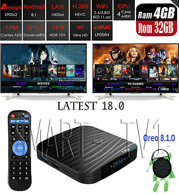 New Android T95X2 TV Box 8.1 Amlogic S905X2 KD 18.0 WiFi 4GB 32GB 4K / T95z  comprar usado  Enviando para Brazil