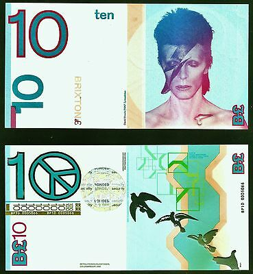 England / David Bowie / Brixton - £10 note, UNC. Britain's trendiest Banknote ?