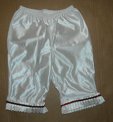 Victorian Style Pantaloons White Satinette Size 2 Tot Extra Small Child