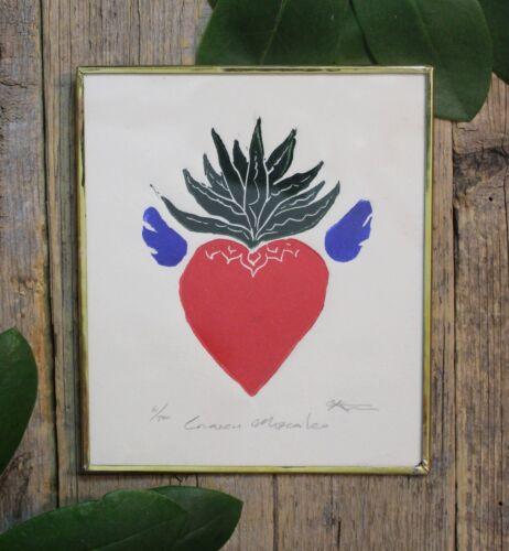 Agave Sacred Heart Tequila Lover Framed Print Mexican Folk Art by Genaro Abelar