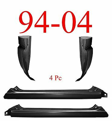 94 04 S10 4Pc Slip-On Rocker Panel & Cab Corner, Chevy, GMC, 1.2MM Thick!
