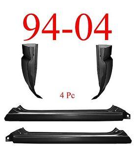 94 04 S10 4Pc Slip-On Rocker Panel & Cab Corner, Chevy, GMC, 1.2MM Thick!