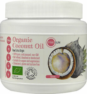 Organic Coconut Oil Raw Cold Pressed 500ml Pure Extra Virgin Unrefined Hair Skin