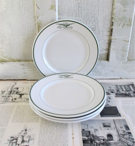 4 Mayer China FOE Eagle Restaurant Ware Dinner Plates Fraternal Order of Eagles