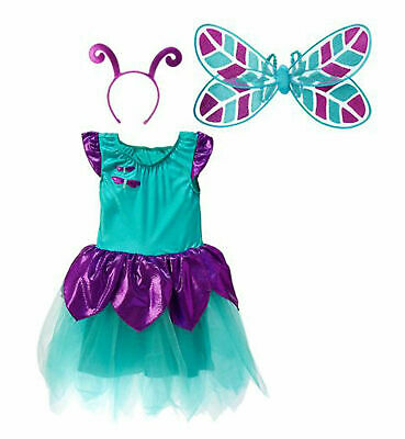 NEW Gymboree Dragonfly Fairy Halloween Costume Dress, Wings & Headband 3T-4T 3-4 (Halloween Dragonfly)