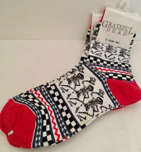Grateful Dead  White Dancing Skeleton Socks NEW!