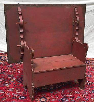 18TH C HUDSON RIVER VALLEY TILT TOP ANTIQUE HUTCH TABLE IN OLD RED PAINT FINISH