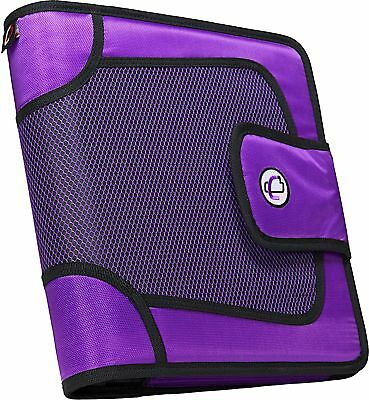 Case-it Open Tab Velcro Closure 2-inch Binder With Tab File Purple S-816-pur