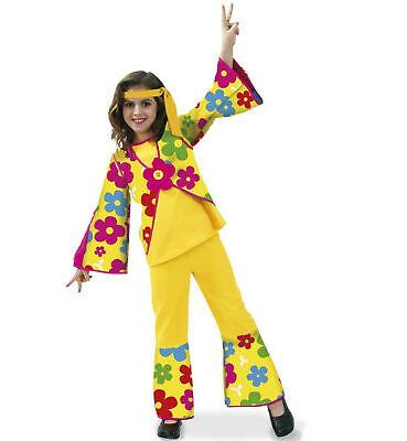 Hippie Kostüm Mädchen FLower Power 2tlg. Hippiekostüm 60er Gr. 164 Karneval