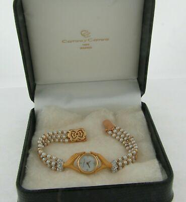 Carrera Y Carrera Rare 18K Pearls Band Diamonds Limited Edition 500 Ladies Watch
