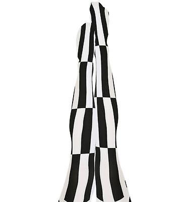 schwarz/weiße Strumpfhose Nylonstrumpfhose Harlekin black and white - Schwarz Weiße Kostüme