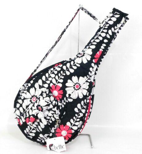New Bettie by Buckhead Betties Tennis Racket Cover, black, pink, white