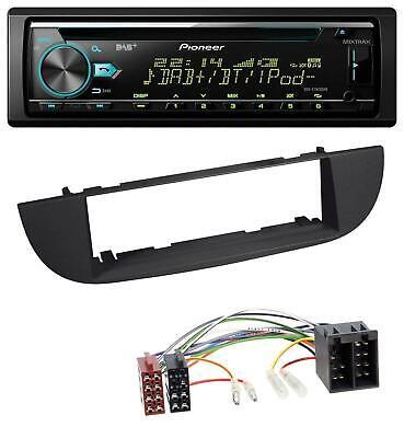 Pioneer DAB MP3 CD USB Bluetooth Autoradio für Fiat 500 (ab 2007) - schwarz