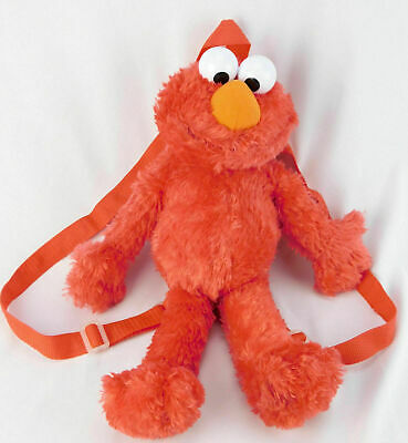 Sesame Street Elmo Plush Kids Backpack Bag Soft Toy Doll Cuddly Figure 16""
