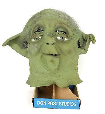 Vintage 1996 Collectible Star Wars Yoda Mask Don Post Studios With Stand - Yoda Masks