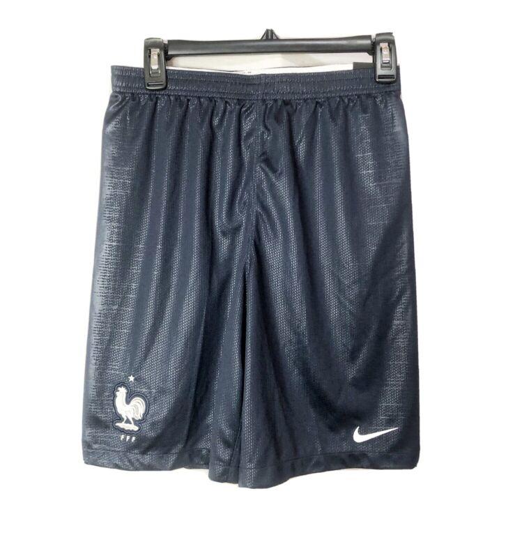 Nike Boys Youth Navy Blue Youth Dri-fit Soccer Shorts W/FFF Rooster Logo SIZE XL