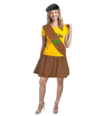 Ladies Pot Brownie Costume Girl Scout Cookies Fancy Dress 420 Weed UK - Girlscout Costume