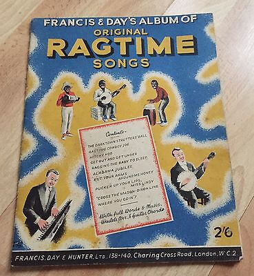 VINTAGE FRANCIS & DAYS ALBUM OF ORIGINAL RAGTIME SONGS FULL WORDS & MUSIC - RARE for sale  Wisbech