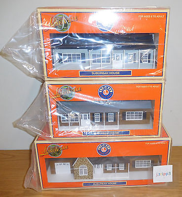 LIONEL 3 HOUSES HOMES O SCALE GAUGE ACCESSORY LOT TRAIN LAYOUT ESTATE LIGHTED for sale  Shipping to Canada