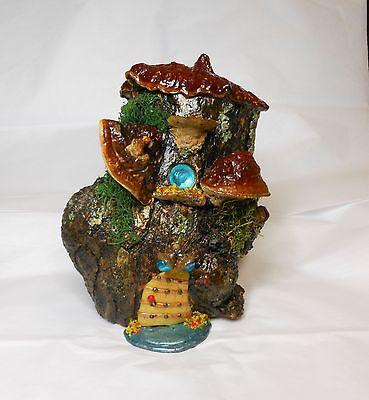 Hobbit House - Fairy/Ghome/Hobbit House-Mushroom Fairy House-OOAK-Mushrooms/Polymer Clay