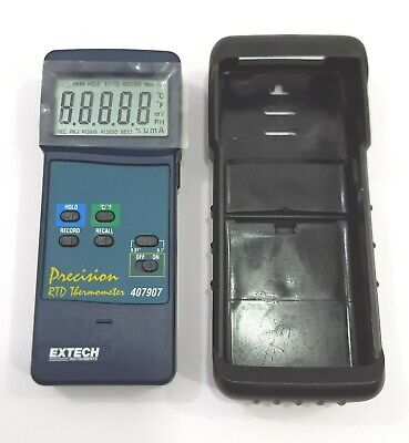 Extech 407907 Precision Heavy Duty Rtd Thermometer Pc Interface Fast Response